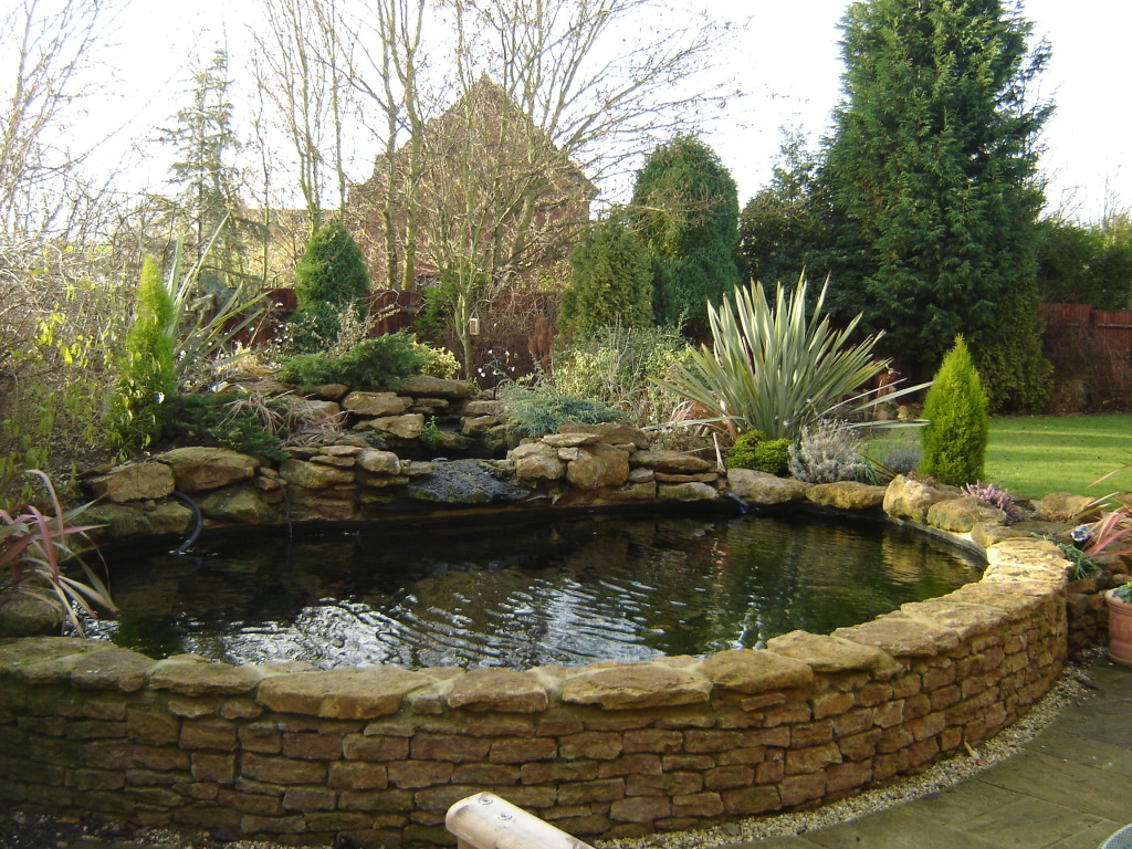 Formal or raised pond package garden pond specialists for Stone koi pond
