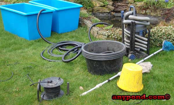 Pond cleaning quick service calls by any pond limited for Professional pond cleaners
