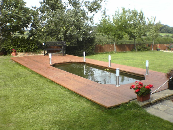 Formal pond gallery garden pond specialists in the for Garden decking with pond