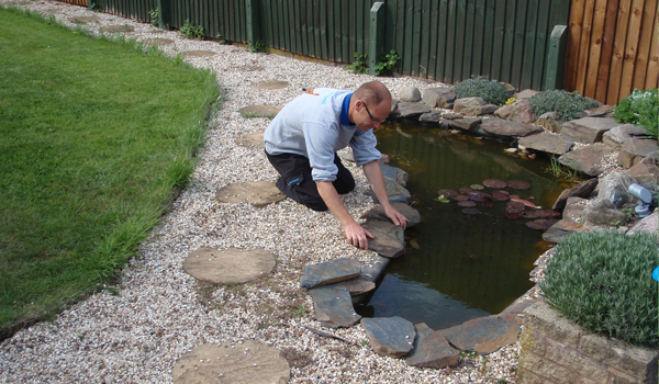 Pond case study emergency pond repair garden pond for Garden pond edging