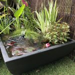 Large Square Patio Pond Black
